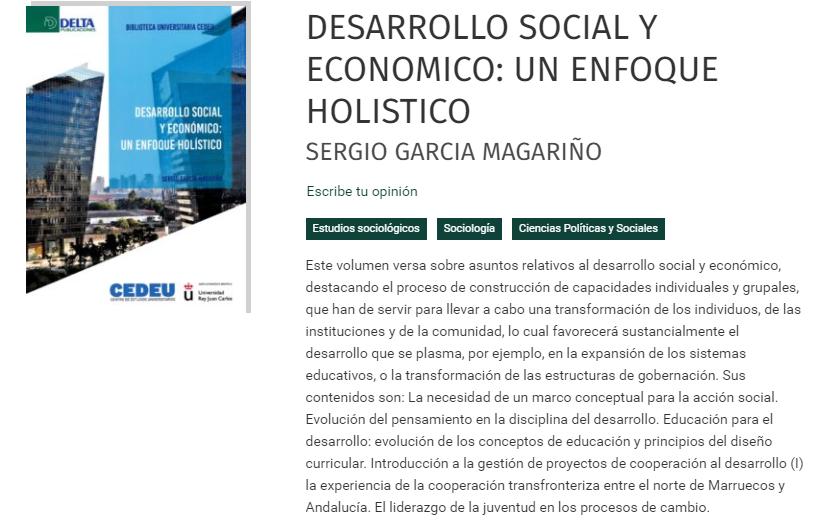 Libro - El desarrollo social y económico: un enfoque holístico