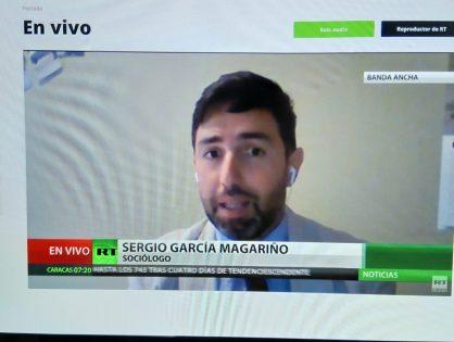 Entrevista en Actualidad RT sobre la solidaridad en Europa ante el coronavirus