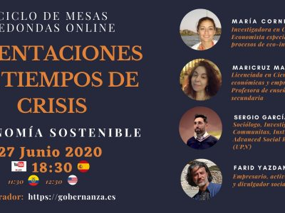 Tertulia online Orientaciones en Tiempos de crisis: sostenibilidad y resiliencia