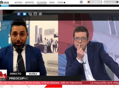 Entrevista en EiTB sobre la alta incidencia del Covid en Navarra