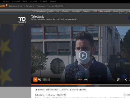 Entrevista en informativos de RTVE1 sobre la importancia de ganarse la confianza de la gente para combatir la pandemia