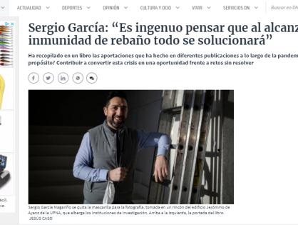 Reportaje de Ainhoa Piudo para Diario de Navarra sobre Cronología de una Pandemia
