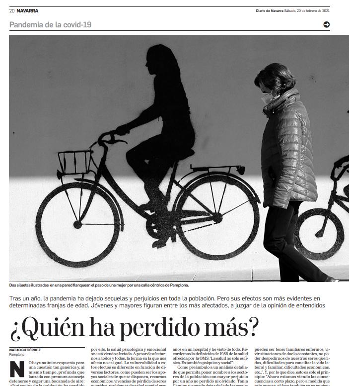 Entrevista para reportaje de Natxo Gutiérrez en el Diario de Navarra: ¿Quiénes han perdido más en la pandemia?