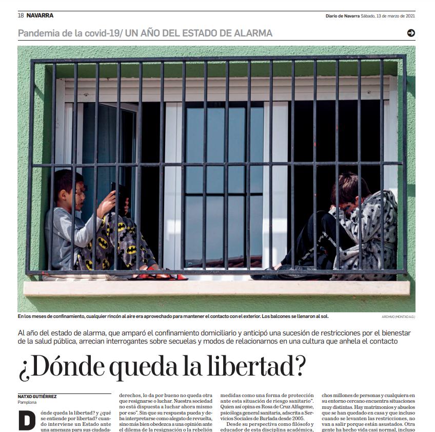 Entrevista para el diario de Navarra: ¿Dónde queda la libertad?