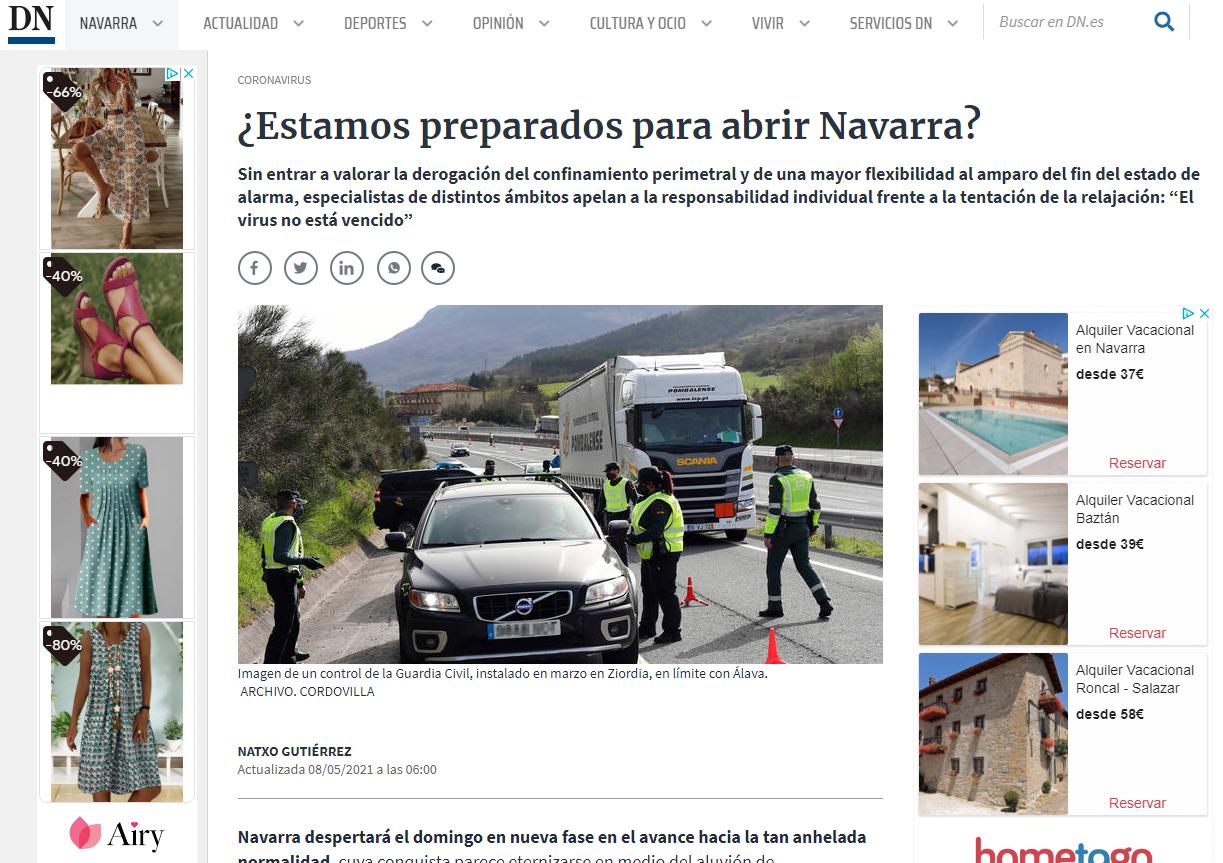 Entrevista para el reportaje: ¿Estamos preparados para abrir Navarra?