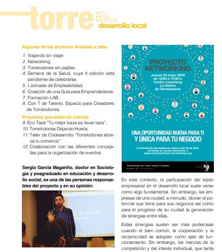 Reportaje sobre el Lab de Torrelodones en Revista de Torrelodones
