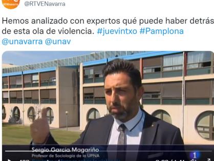 Entrevista en TVE Navarra sobre los toques de queda y la violencia juvenil